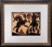 """Pablo Picasso LINOGRAVURE Ltd Ed. """"Apres la pique"""" 1959 +Custom FRAMING"""