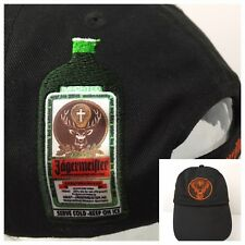 Jagermeister Hat Silk Patch Liquor Bottle Embroidered Cap Strapback Metal Buckle
