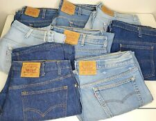 Vintage Denim Lot Levis 501 xx 80s 90s Damaged Repair Orange Red Tab Faded Worn