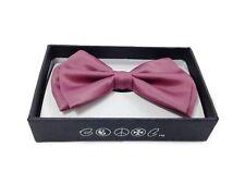 Rose Pink Men Women Bowtie Classic Clip-On Neck-wear Tuxedo Adjustable