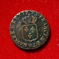#2705 - RARE Louis XV Demi Sol 1773 BB Strasbourg TTB R - FACTURE