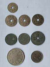 Lot  9 Pieces Francs Belges 1900 À 1940