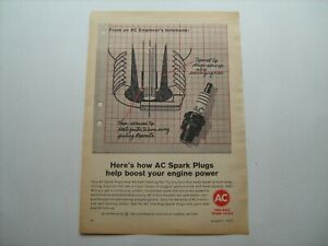 """1965 """"AC Spark Plug's"""" vintage ad from private estate--for '65 GM Car/Truck line"""