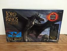 "FELL BEAST Deluxe Poseable Lord of the Rings 32"" wingspan with Ringwraith Rider"