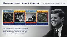 Tuvalu 2017 MNH John F Kennedy 100th Birthday 4v M/S II US Presidents Stamps