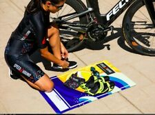"""Speed Hound Triathlon Transition Mat & Quick-dry Towel """"All is Swell"""" - New"""