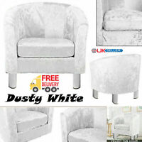 Crush Velvet Fabric Tub Chair Armchair Sofa Seat Lounge Living Room Office Home