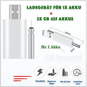 2x Akkus-CR 425 + Ladegerät für 1Akku, Stab Batterie, Elektro Posen, Angelposen