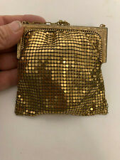 Whiting & Davis Co. Mesh Purse Purse With Engraved Frame Art Deco