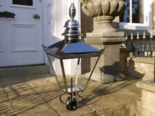88cm Tall Highly Polished Stainless Steel Victorian Style Lamp Post Lantern