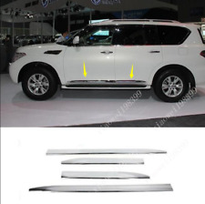 For 2013-2019 Infiniti QX56 QX80 ABS Chrome Side Door Body Molding Cover Trims