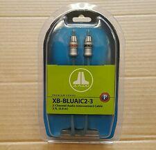 JL Audio XB-BLUAIC2-3 Premium ECS 3-ft RCA Audio Interconnect Cable * NEW