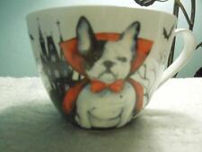 "New listing French ""Frenchie"" Bulldog Halloween ""Count Dogula"" Porcelain Mug By Portobello"