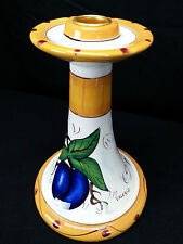 Ganz Valerio Tuscan Spanish Style Candle Holders Fruit Design Plums & Peaches