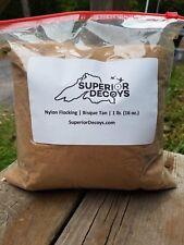Bisque Tan DonJer Nylon Flocking 1 Pound (16 Ounces) - Decoys- Goose, Crow, Duck