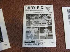1984 - 1985 Bury v Wigan Athletic Freight Rover Trophy