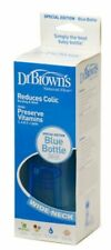 Dr. Brown's 240ml Wide Neck Bottle With Level 1 Teat (Blue)