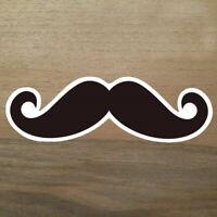 2x Moustache Aufkleber Schnurrbart Sticker Hipster Bart Oberlippenbart Foto DIY