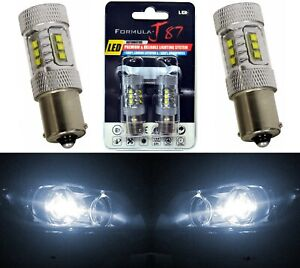LED Light 80W 1156 White 5000K Two Bulbs Back Up Reverse Replace Upgrade Fit JDM