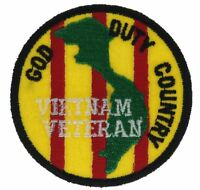 Vietnam Veteran God Duty Ribbon 2.75 inch Round Colors Hat Patch HFL1067 F2D12C