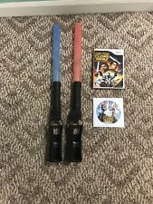 Double Star Wars Lightsabers for Nintendo Wii with games