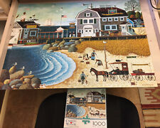 Charles Wysocki COMPLETE Clammers At Hodge's Jigsaw Puzzle 1000 Pieces Buffalo