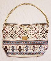 """Cute Canvas Purse Shoulder Bag Gold Chain Detachable Strap 10""""×14"""" Lignahg Puu"""