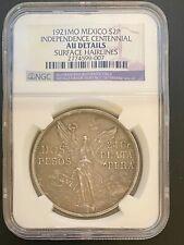 """""""1921 MEXICO 2 PESOS INDEPENDENCE CENTENNIAL NGC GRADED"""" Coin"""