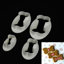 4pcs Dog Bones plastic fondant cookie cutter fondant mold cake decorating tool