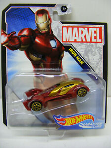Hot Wheels 1/64 Marvel Iron Man Red Character Cars