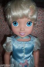 "DISNEY PRINCESS CINDERELLA Vinyl DOLL Toddler Baby Young Child 14.5"" Tall New"