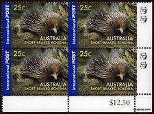 2006 Short Beaked Echidna Value Block 2nd Reprint MUH Mint Stamps Australia #4
