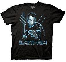 Officially Licensed Big Bang Theory Glowing Sheldon Bazinga Nerds T Shirt Large