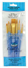 Royal Langnickel Brushes Paint Golden Taklon 7 pc Set CRAFTERS CHOICE RCC402