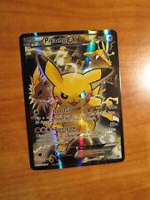 PL (crease)FULL ART Pokemon PIKACHU EX Card BLACK STAR PROMO Set XY124 XY PLAYED