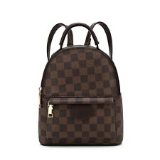 Designer Inspired Mini Checker Backpack  (Various colours)
