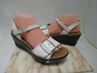 DANSKO White Leather Ankle Strap Platform Wedge Sandals Buckle EU 39 US 8.5-9