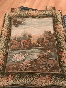 VINTAGE TAPESTRY LINED WALL HANGING