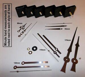 Replacement Quartz Clock Mechanism Movement with Silver Hands, DIY Repair Kit