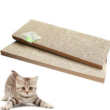 2Pcs Pet Cats Kitten Reversible Corrugated Scratching Board Scratcher Cardboard