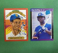 KEN GRIFFEY JR  (2) 1989 Rookie Cards RCs Donruss #33 & Donruss Kings #4