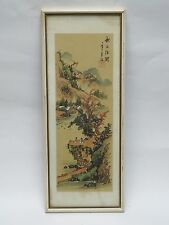FABULOUS ANTIQUE EARLY 20 c CHINESE PAINTING ON SILK MOUNTAIN SCHOLAR SCENE