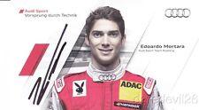 2011 Edoardo Mortara signed Audi Racing A4 DTM postcard