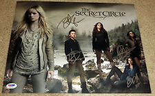 The Secret Circle Cast Signed 11x14 By 5 Robertson Dekker Hennig Psa Loa