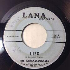 "KNICKERBOCKERS 45 7"" Lies / The Coming Generation 1965 NJ GARAGE ROCK VG LANA"