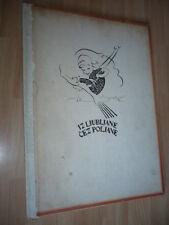 LIVRE D'ENFANT SLOVAQUE 1921 Iz Ljubljane čez poljane - pesmi in slike SLOVAQUIE