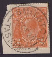 Tasmania SMITHTON 1920 postmark type 2b on 2d KGV