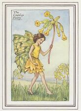 CICELY MARY BARKER c1930 THE COWSLIP FAIRY Painting Vintage Art Book Print