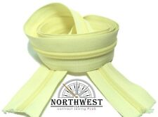 """YKK Nylon Coil Zipper Tape # 8 - 10 continuous yards """"Lemon"""" made in USA"""