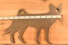 """AR500 1/2"""" American Steel Animal Shooting Target 10""""x8"""" Coyote"""